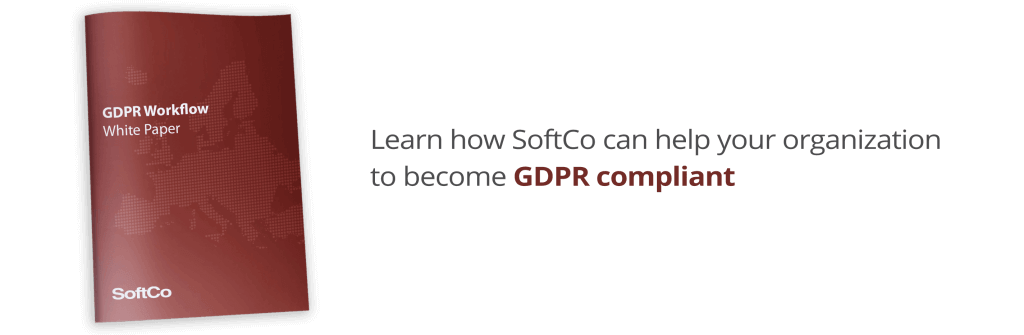 SoftCo GDPR workflow and gdpr compliance for finance